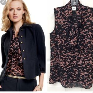 CAbi 9 to 5 Blouse Top 3075 Tie Neck Small